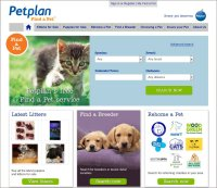 Find a Pet homepage